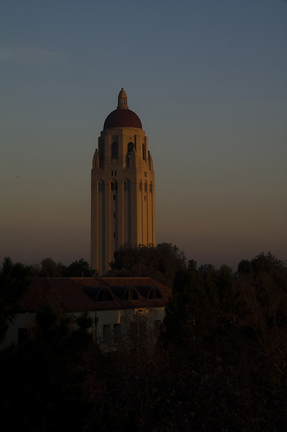 朝日に輝くフーバータワー#2