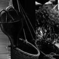 写真: 鋏と籠